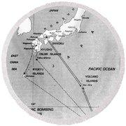 Atomic Bombing Of Japan, 1945 Round Beach Towel