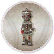 Atomic Tin Robot Round Beach Towel