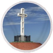 Atop Mt Soledad Round Beach Towel