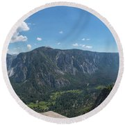 Atop Upper Falls Hike Round Beach Towel