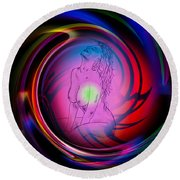 Atrium Abstract - Perfection Akt Round Beach Towel