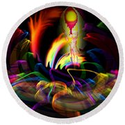 Atrium Outburst Angel Round Beach Towel