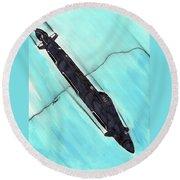 Attack Submarine Guardfish Round Beach Towel