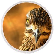 Attitude...with Feathers Round Beach Towel