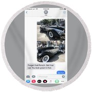 Auburn Speedster On Instagram Round Beach Towel
