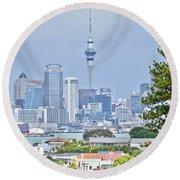 Auckland City C B D Round Beach Towel