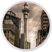 Auckland Sky Tower Round Beach Towel