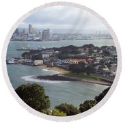 New Zealand - Picturesque Devonport Beach Round Beach Towel