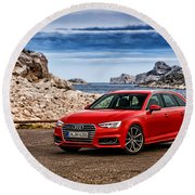 Audi A4 Round Beach Towel