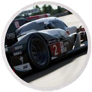 Audi R18 E-tron, Le Mans - 09 Round Beach Towel