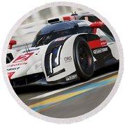 Audi R18 E-tron, Le Mans - 12 Round Beach Towel