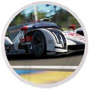 Audi R18 E-tron, Le Mans - 14 Round Beach Towel