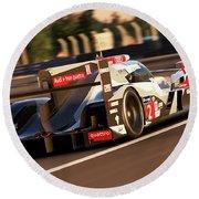 Audi R18 E-tron, Le Mans - 18 Round Beach Towel