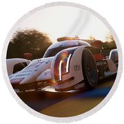 Audi R18 E-tron, Le Mans - 21 Round Beach Towel