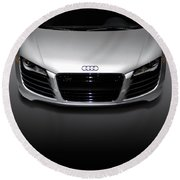 Audi R8 Sports Car Round Beach Towel