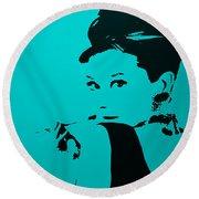 Audrey Light Blue Round Beach Towel