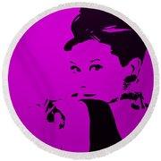 Audrey Purple Round Beach Towel