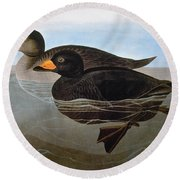 Audubon: Duck, 1827 Round Beach Towel