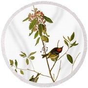 Audubon: Kinglet, 1827 Round Beach Towel