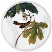 Audubon: Sparrow, 1827-38 Round Beach Towel