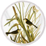 Audubon: Sparrow, (1827) Round Beach Towel