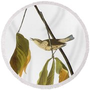 Audubon: Thrush, 1827 Round Beach Towel