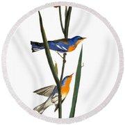Audubon: Warbler, 1827 Round Beach Towel