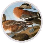 Audubon: Wigeon, 1827-38 Round Beach Towel
