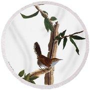 Audubon: Wren, (1827-38) Round Beach Towel