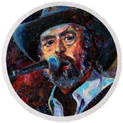 Augie Meyers Round Beach Towel