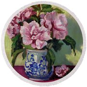 August Blossoms Round Beach Towel