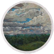 August Convection Round Beach Towel