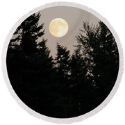 August Full Moon - 1 Round Beach Towel