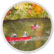 Augusta Canal Number One Round Beach Towel