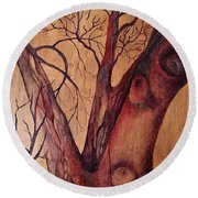 Mystical Tree Round Beach Towel
