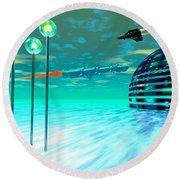 Aurora 12 Round Beach Towel