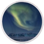 Aurora Borealis - Greenland Round Beach Towel