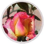 Aurora Color Rose Bud. Wow Round Beach Towel