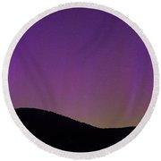 Aurora Lights From Upstate New York Round Beach Towel