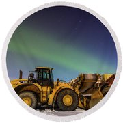 Aurora Machines Round Beach Towel