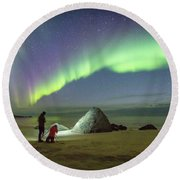 Aurora Photographers Round Beach Towel