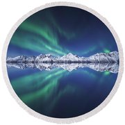 Aurora Square Round Beach Towel