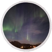 Aurora Tasiilaq And Dipper Greenland 7890 Round Beach Towel
