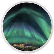 Aurora Umbrella Round Beach Towel