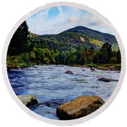 Ausable And Whiteface Round Beach Towel