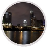 Austin Texas Round Beach Towel