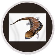 Australia Blue-tongued Skink Round Beach Towel