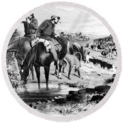 Australia: Cowboys, 1864 Round Beach Towel