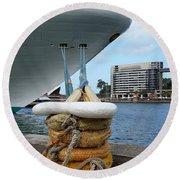 Australia - Cruise Ship Tied Up Round Beach Towel