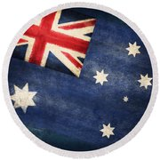 Australia  Flag Round Beach Towel